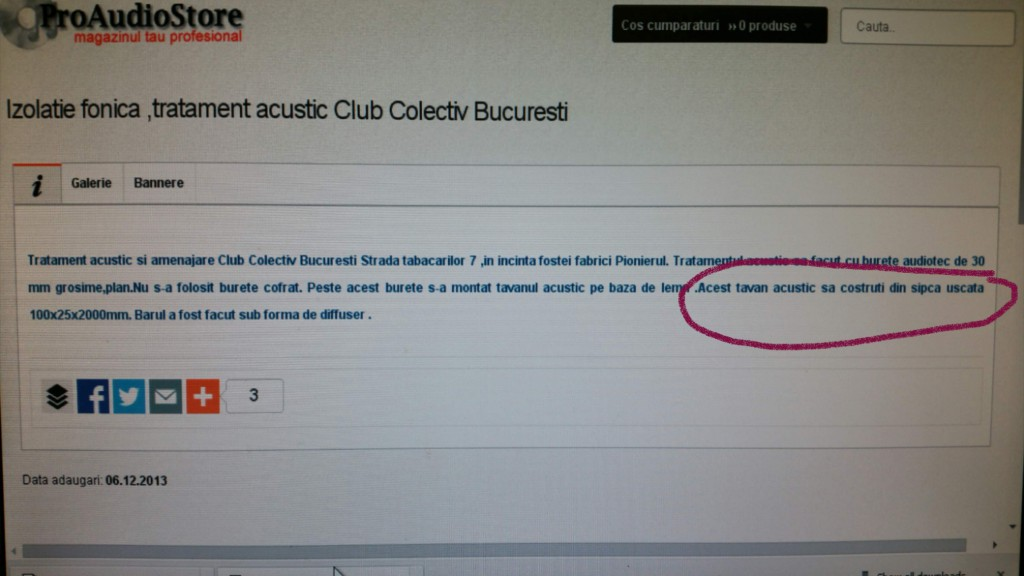 izolatie club colectiv sipca uscata
