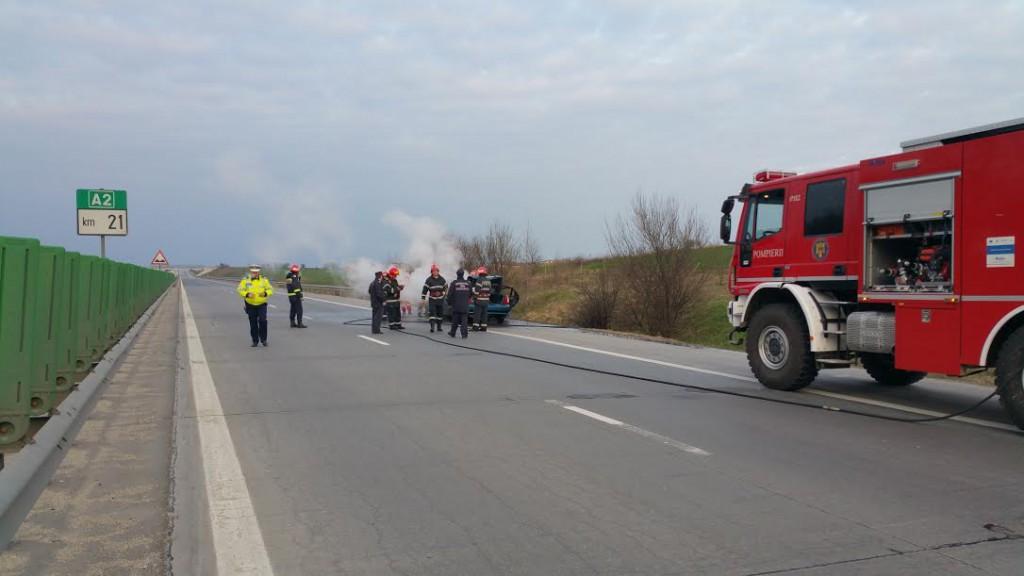 incendiu autostrada radio constanta