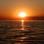 Asfințit pe mare la Sulina