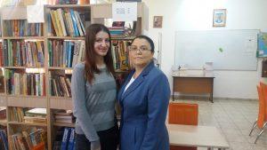 Ștefania Zănoagă și profesoara sa, Alina Trache